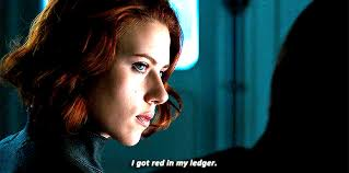 I got red in my ledger (black widow)