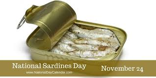 nov 24 - national sardine day