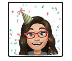 my FB avatar with a birthday hat