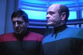 altered chakotay and doctor in the turbolift