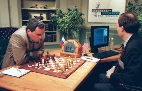 Gary Kasperov plays chess vs. deep blue