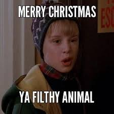 """Kevin from HOME ALONE """"Merry Christmas ya filthy animals"""""""