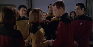 Paris and Torres in front of Janeway