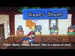 Paper Mario Sleepy Sheep