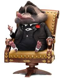 Mr. Big from Zootopia, in his chair