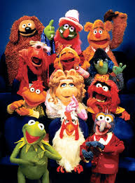 a random assortments of Muppets, including Kermit, Gonzo, Fozzy, and Miss Piggy (and animal!!)