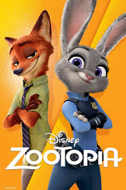 Zootopia movie poster with Judy and Nick