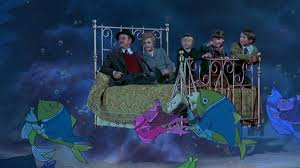 an underwater scene from BEDKNOBS AND BROOMSTICKS