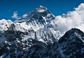 The peak of Mount Everest