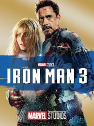 Iron Man 3 poster with Pepper and Tony