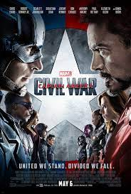 Civil War movie poster (RDJ and CE facing off)