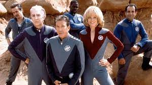 The crew (L to R: the extra, lazarus, the commander, gwen, fred, and laredo in the back)