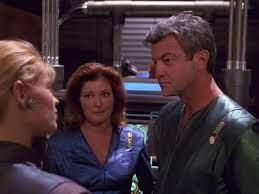 Jaffen and Janeway talk to Annika Hansen