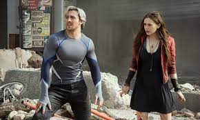 Pietro and Wanda Maximoff stand in some ruins